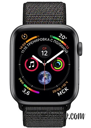 Apple Watch Series 4 40mm Space Gray / Black loop