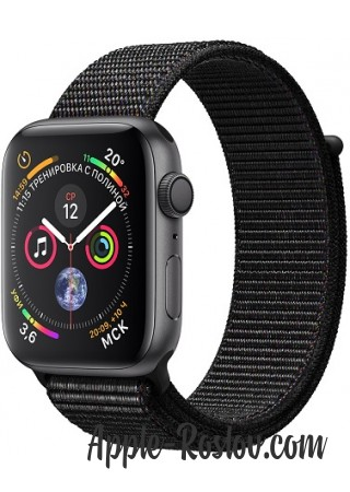 Apple Watch Series 4 44mm Space Gray / Black loop
