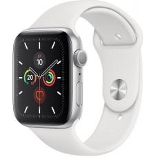 Apple Watch Series 5 44mm Silver / White