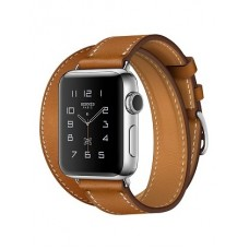 Apple Watch Hermes 38 mm silver/Double Tour Barenia leather Fauve colors