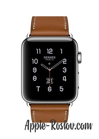 Apple Watch Hermes 42 mm silver/Simple Tour Barenia leather Fauve colors