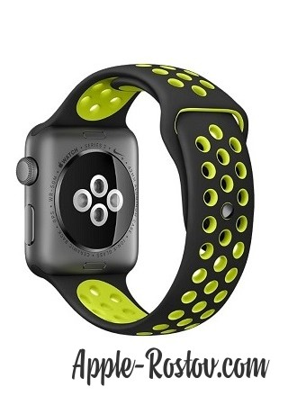 Apple Watch NIKE+ 38 mm space gray/black - green