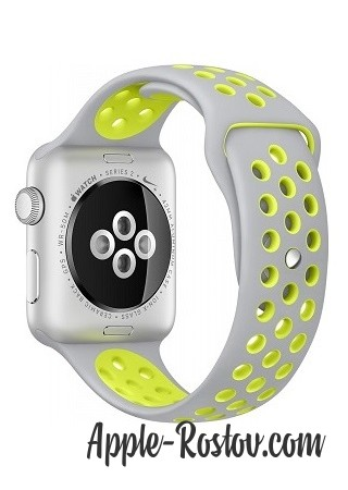 Apple Watch NIKE+ 42 mm silver/silver - green