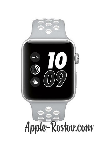 Apple Watch NIKE+ 42 mm silver/silver - white