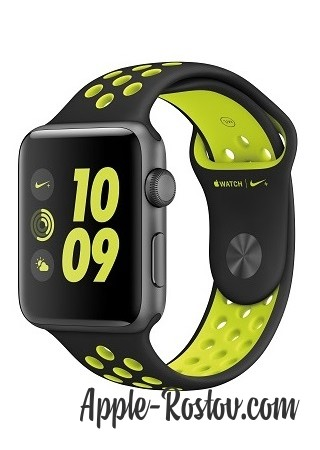 Apple Watch NIKE+ 42 mm space gray/black - green