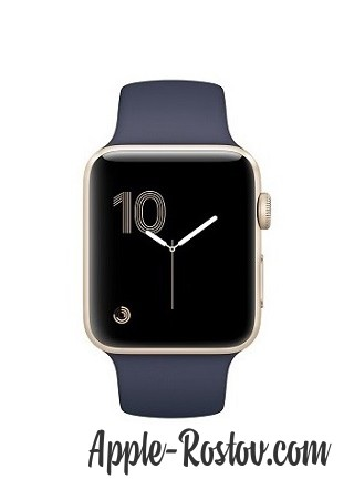 Apple Watch 38 mm gold/sport midnig blue
