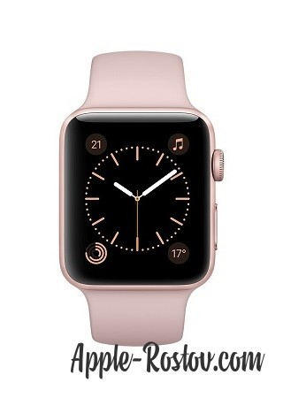 Apple Watch 42 mm rose gold/sport pink