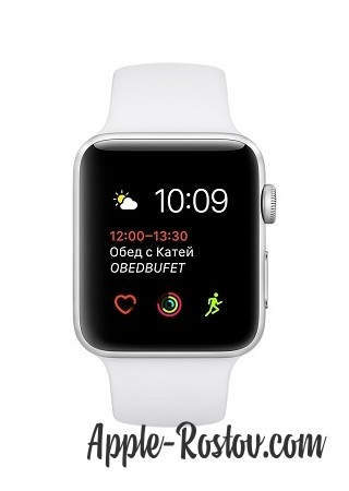 Apple Watch 42 mm silver/sport white