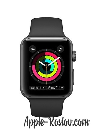 Apple Watch 42 mm space gray/sport black