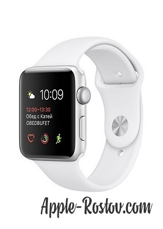 Apple Watch 2 38 mm silver/sport white