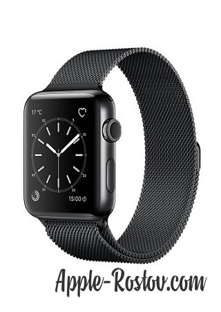 Apple Watch 2 38 mm space black/milanese black