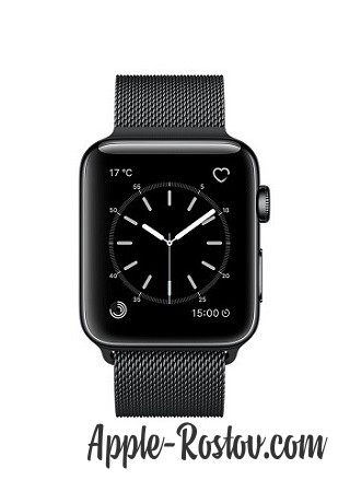 Apple Watch 2 42 mm space black/milanese black