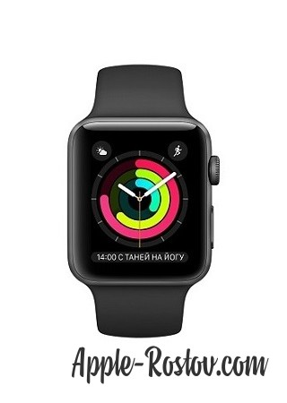 Apple Watch 2 38 mm space gray/sport black