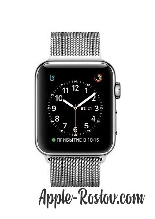 Apple Watch 2 38 mm stainless steel/milanese silver