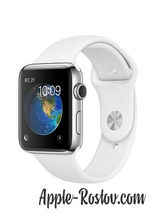 Apple Watch 2 38 mm stainless steel/sport white