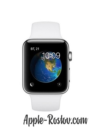 Apple Watch 2 42 mm stainless steel/sport white